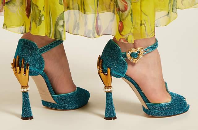 6c198ff712820 ... magnifiques chaussures de Dolce   Gabbana pour le printemps été 2018.  MODE